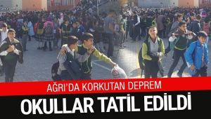 Ağrı'da korkutan deprem Okullar tatil edildi...
