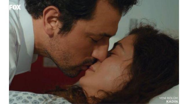 Kadın dizisindeki öpüşme sahnesi olay oldu Bahar ve Arif'in...