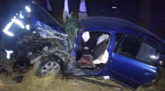 Aksaray'da iki otomobil çarpıştı: 8 yaralı