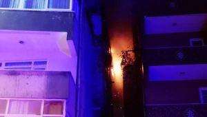 Ataşehir'de korkutan yangın! Mahalleli sokağa döküldü